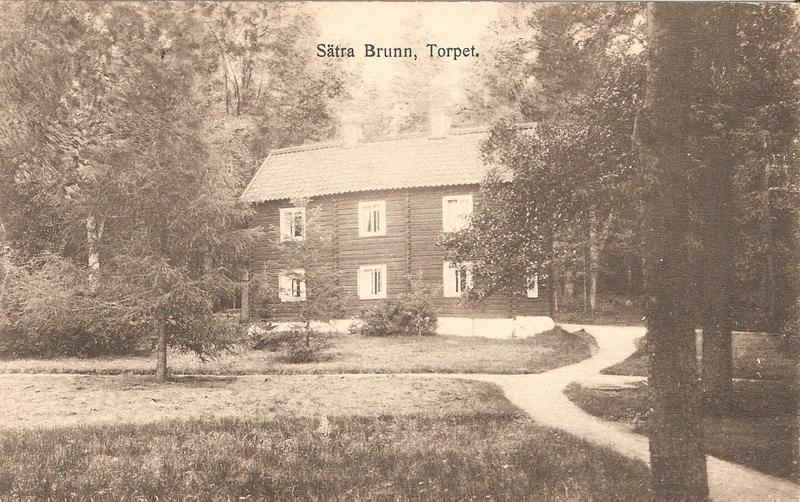 Sätra Brunn, Stora torpet ca 1900.<br /> Vykort.