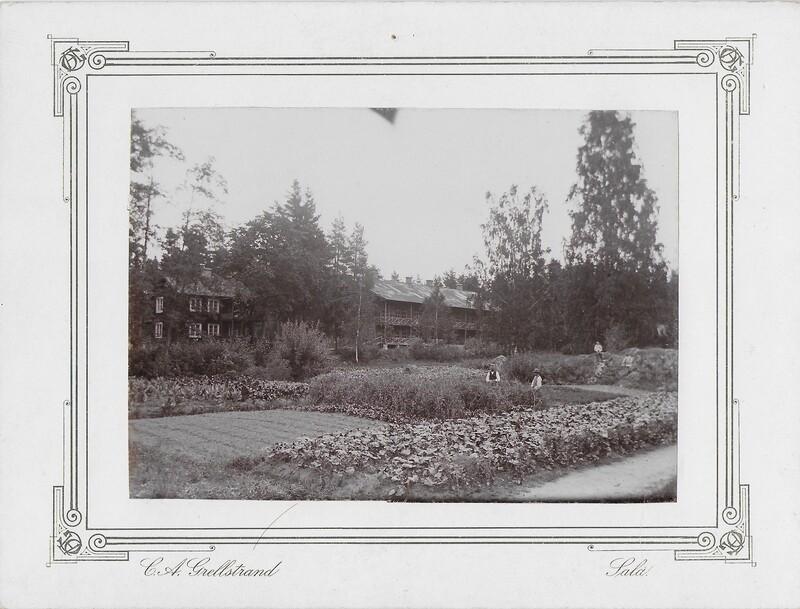Sätra Brunn. Trädgården, örtagården, barockträdgården mm. Foto 1890-talet. Foto..jpg