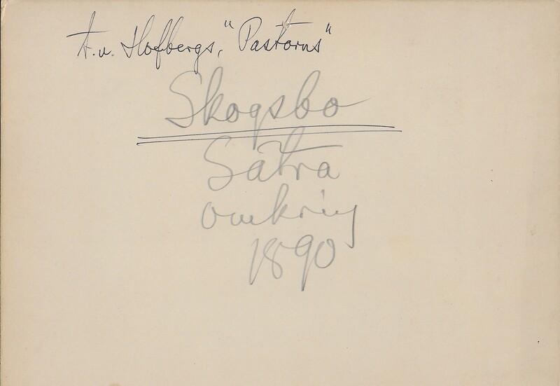 Sätra Brunn. Trädgården, örtagården, barockträdgården mm. Foto 1890-talet. Text..jpg