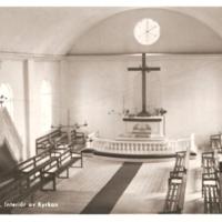 Kyrkan. 1960-tal. Interiör kor. Ej postg Asida.jpg