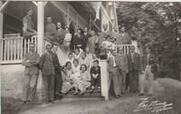Sätra Brunn. Personal. Läkarkåren 1931. Professor Holmdahl. Fotograf Westling Sala. Fotovykort..jpg