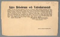 Sätra Brunn. Annons för Sätra Helsobrunn och vattenkuranstalt. År 1870..JPG